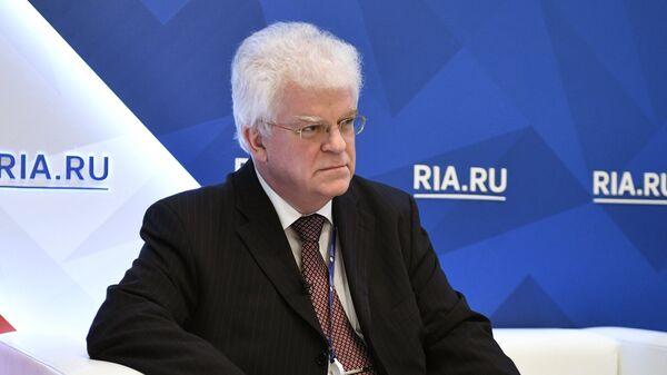 Постоянный представитель Российской Федерации при Европейском союзе Владимир Чижов на Санкт-Петербургском международном экономическом форуме