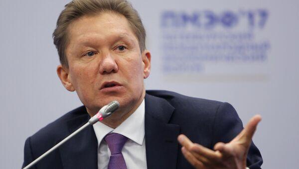 Председатель правления ПАО Газпром Алексей Миллер на Санкт-Петербургском международном экономическом форуме 2017