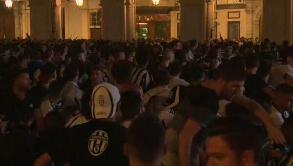 Массовая давка произошла в Турине при просмотре Лиги чемпионов. Кадры с места ЧП