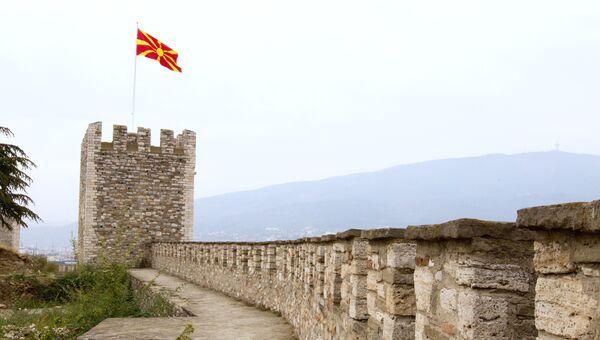 Средневековая крепость Скопско Кале в городе Скопье в Македонии. Архивное фото