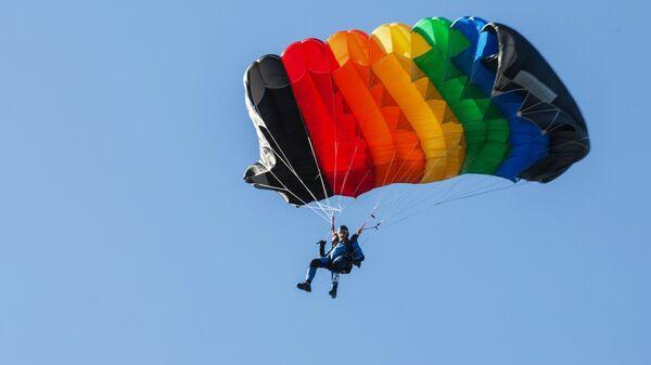 Участник на Всероссийских соревнованиях по парашютному спорту