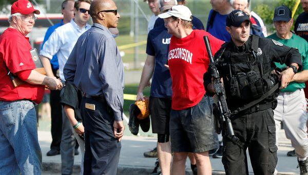 Место нападения на конгрессменов в Александрии, штат Вирджиния. 14 июня 2017