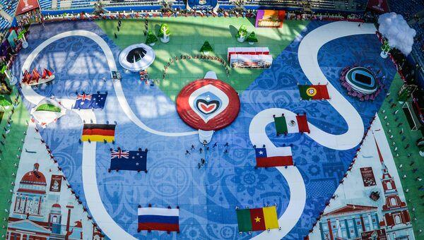 Церемония открытия Кубка конфедераций-2017 в Санкт-Петербурге. 17 июня 2017