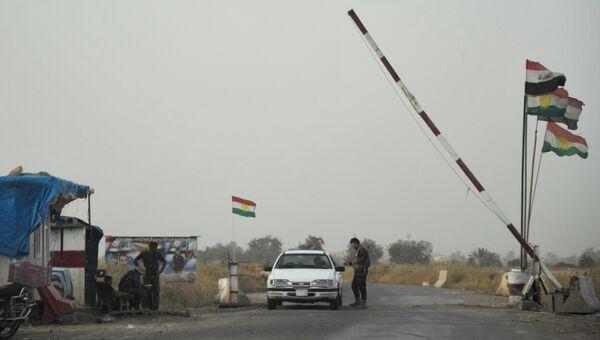 Вооруженные силы Иракского Курдистана в провинции Киркук в Ираке. Архивное фото