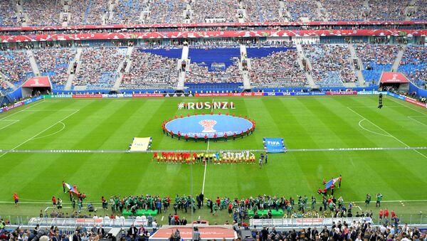 Стадион Санкт-Петербург перед матчем Кубка конфедераций-2017