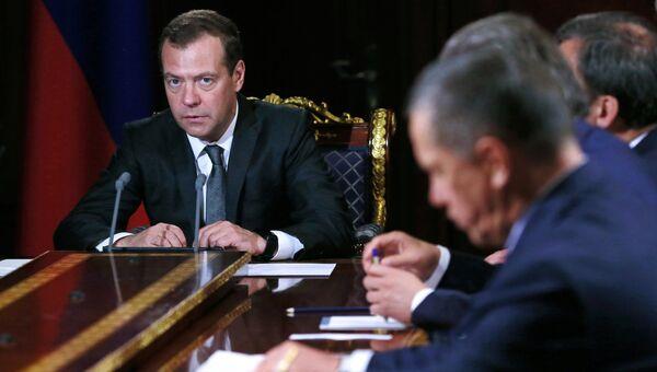 Председатель правительства РФ Дмитрий Медведев проводит совещание с вице-премьерами РФ. 19 июня 2017