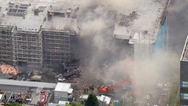 Пожар на складе в Токио, Япония. 20 июня 2017