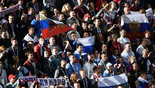 Болельщики сборной России перед началом матча Кубка конфедераций-2017 по футболу между сборными России и Португалии. 21 июня 2017