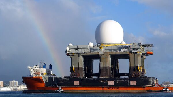 Плавучий радиолокационный комплекс SBX (Sea Based X-Band) в Перл-Харборе. 2006 год
