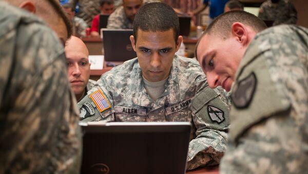 Военнослужащие подразделения кибер-безопасности американской армии