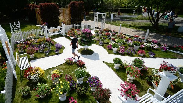 На открытии V Московского международного фестиваля садов и цветов Moscow Flower Show в парке Музеон. Архивное фото