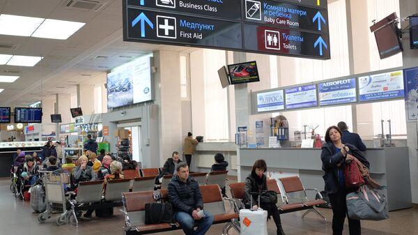 Зал ожидания Международного аэропорта Краснодар. Архивное фото