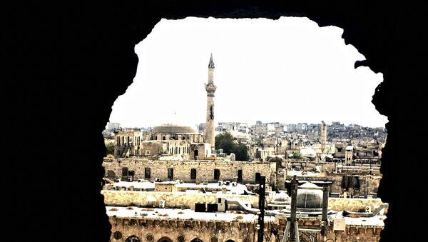 Историческая часть города Алеппо, Сирия. Архивное фото