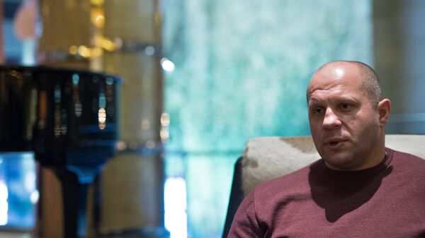Многократный чемпион мира по боям без правил и боевому самбо Федор Емельяненко