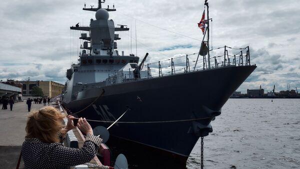 Корвет Стойкий проект 20380 на Международном Военно-Морском салоне в Санкт-Петербурге