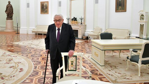 Бывший госсекретарь США Генри Киссинджер в Москве