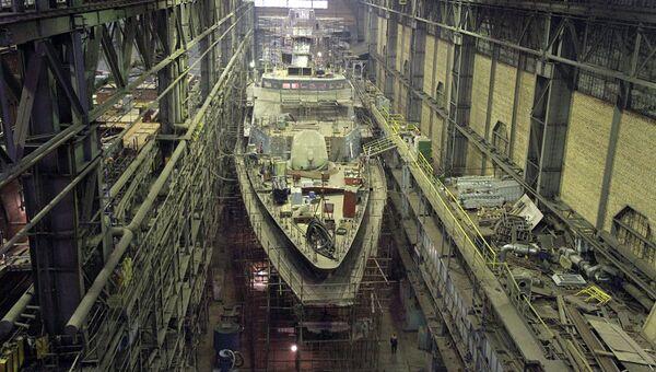 Строительство на судостроительном заводе Северная верфь. Архивное фото