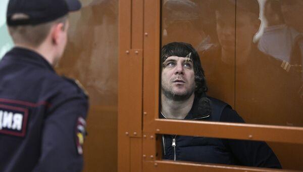 Темирлан Эскерханов в суде во время обсуждения вердикта по делу об убийстве Бориса Немцова. Архивное фото