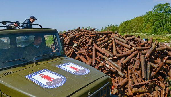Весь металлолом, собранный волонтерами, будет вывезен с островов