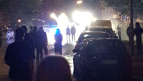 Ночные столкновения в Гамбурге. 7 июля 2017 года