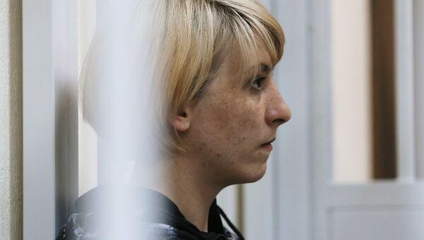 Ольга Алисова, обвиняемая в ДТП в Балашихе, в котором погиб шестилетний мальчик, в Железнодорожном суде Подмосковья. 6 июля 2017