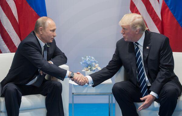Президент России В. Путин принимает участие в саммите Группы двадцати в Гамбурге