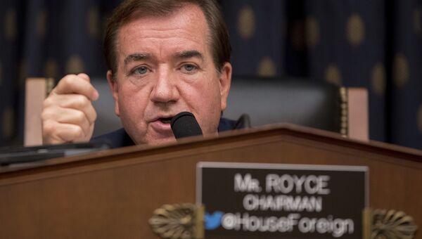 Глава комитета по иностранным делам палаты представителей сената США Эд Ройс. Архивное фото