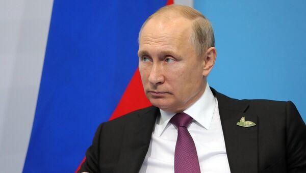 Президент РФ Владимир Путин в Гамбурге. 8 июля 2017