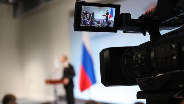 Владимир Путин на пресс-конференции по итогам саммита лидеров Группы двадцати G20 в Гамбурге. 8 июля 2017