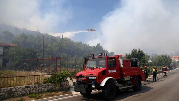 Лесные пожары в Хорватии.
