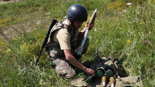 Военнослужащие на Украине. Архивное фото