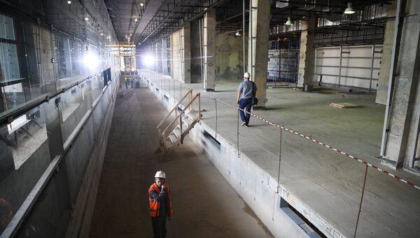 Строительство станции московского метро Мичуринский проспект. Архивное фото