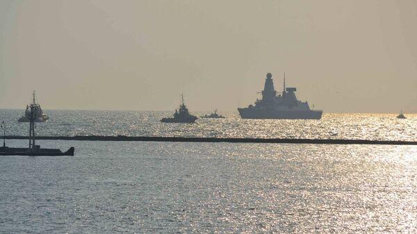 Эсминец Королевских ВМС Великобритании в порту Одессы