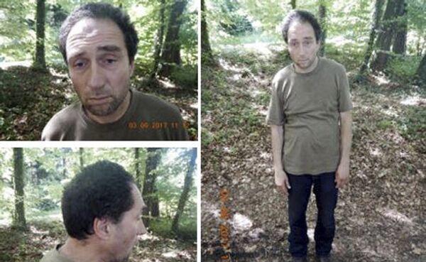 Предполагаемый злоумышленник, который напал на несколько человек в Шаффхаузене Швейцарии. 24 июля 2017