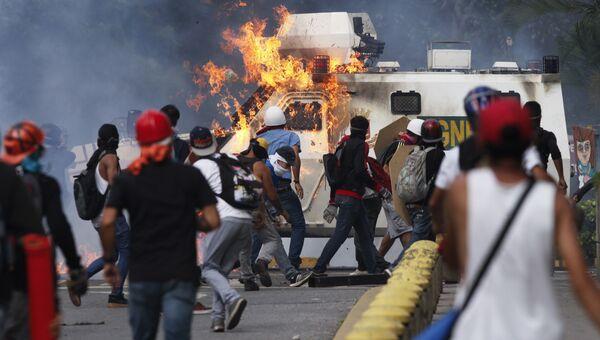 Протесты в Венесуэле. Архивное фото