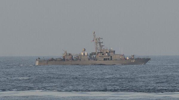 Американский военный корабль USS Thunderbolt в Персидском заливе