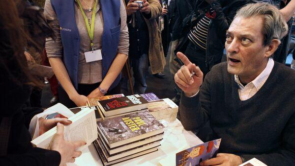 Американский писатель Пол Остер, вошедший в лонг-лист Букеровской премии 2017 года. Архивное фото