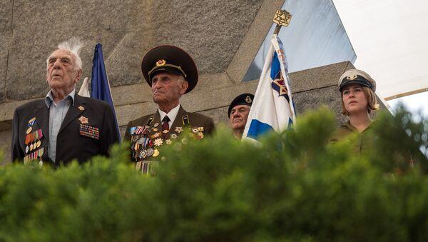 Ветераны на праздновании Дня Победы на территории мемориального комплекса Яд Вашем в Иерусалиме