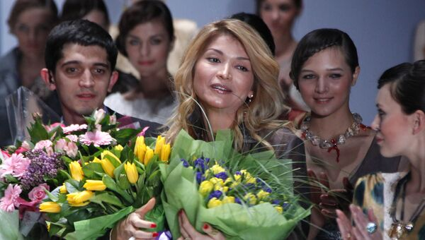 Дизайнер Гульнара Каримова на Неделе моды Merсedes-Benz Fashion Week, 2011. Архивное фото