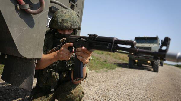 во время тактических учений с подразделениями соединения специального назначения Южного военного округа