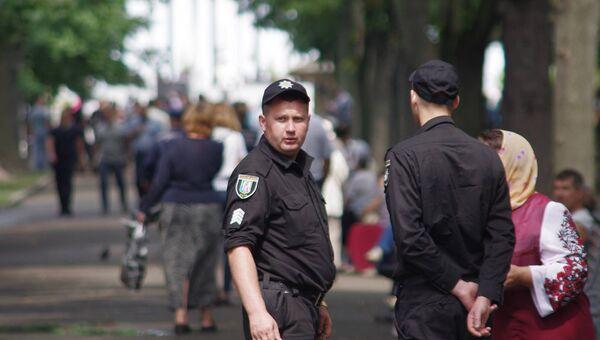 Полиция на улице Киева