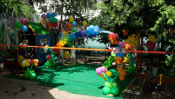 Детская площадка в СИЗО Москвы после ремонта