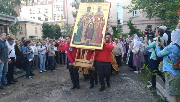 Крестный ход перед молитвенным стоянием против Матильды в Москве