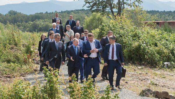 Рабочая поездка президента РФ В. Путина в Бурятию