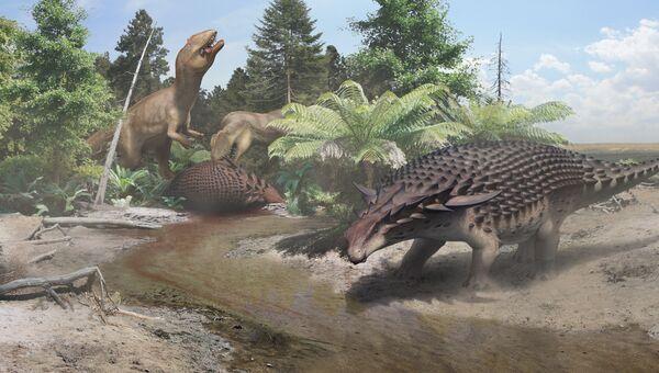 Так художник представил себе нодозавра, одного из самых бронированных динозавров мезозоя