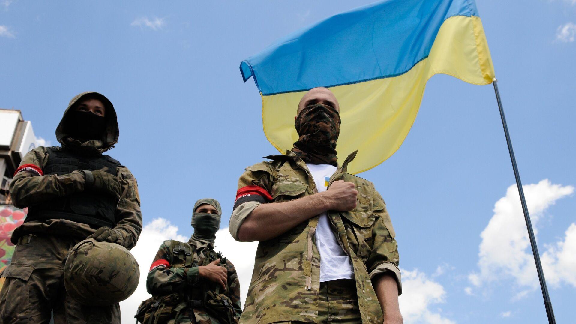 Украинские радикалы в Киеве - РИА Новости, 1920, 04.01.2021