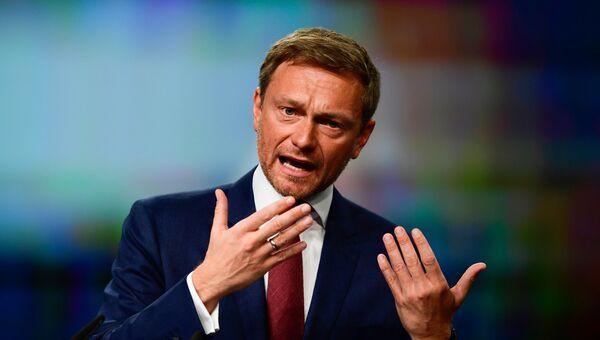Лидер Свободной демократической партии Германии Кристиан Линднер. Архивное фото