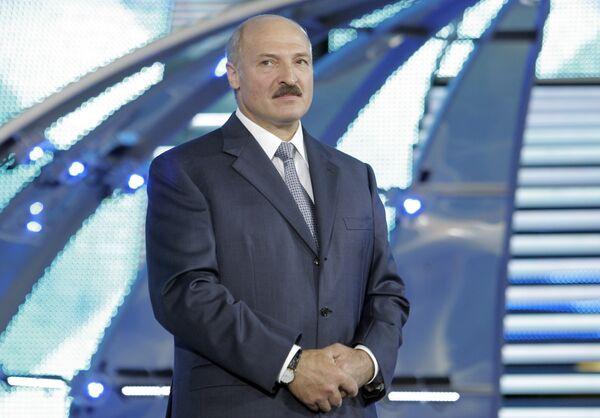 Александр Лукашенко на фестивале Славянский базар в Витебске. Архив.