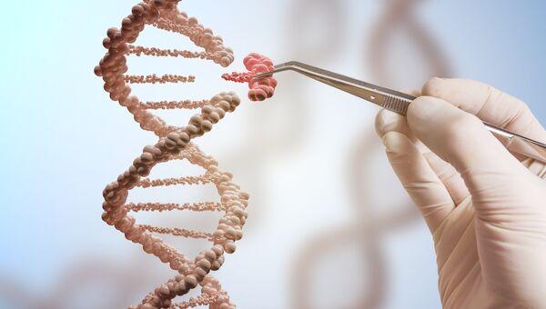 Так художник изобразил процедуру редактирования генома