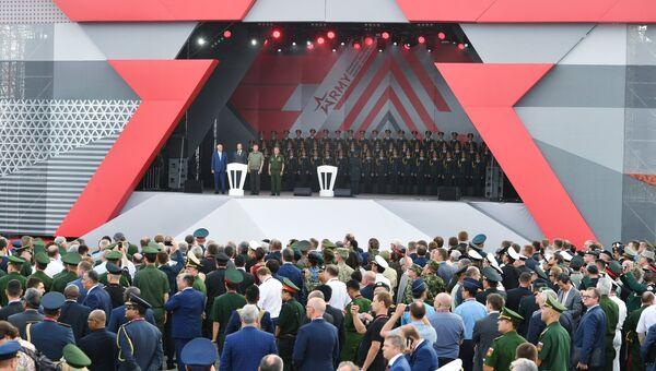 Открытие международного военно-технического форума Армия-2017. 22 августа 2017